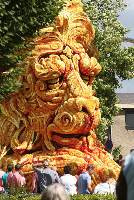 Gigantes esculturas florales - Rostro de un león