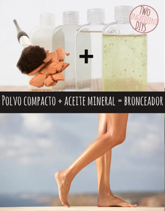 polvo y aceite mineral