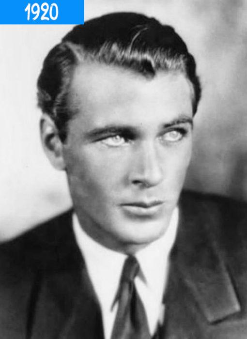 hombre de 1920 con cabello relamido