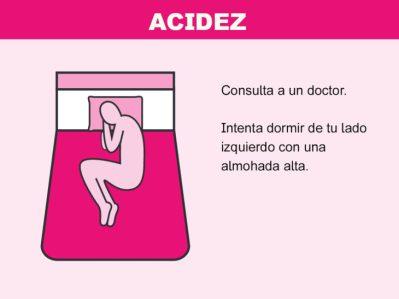 Cómo solucionar problemas en la cama - acidez