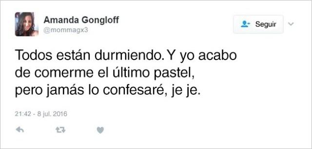 Confesiones madre tuit pastel