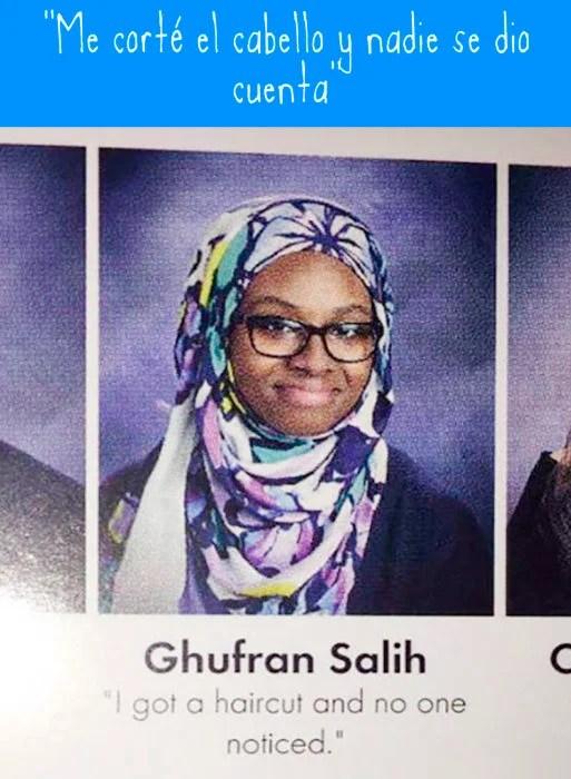 foto de anuario de muchacha con hijab de colores
