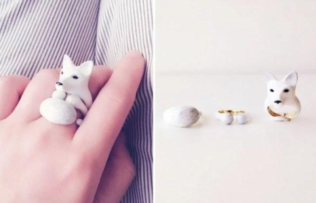 lobo blanco anillo