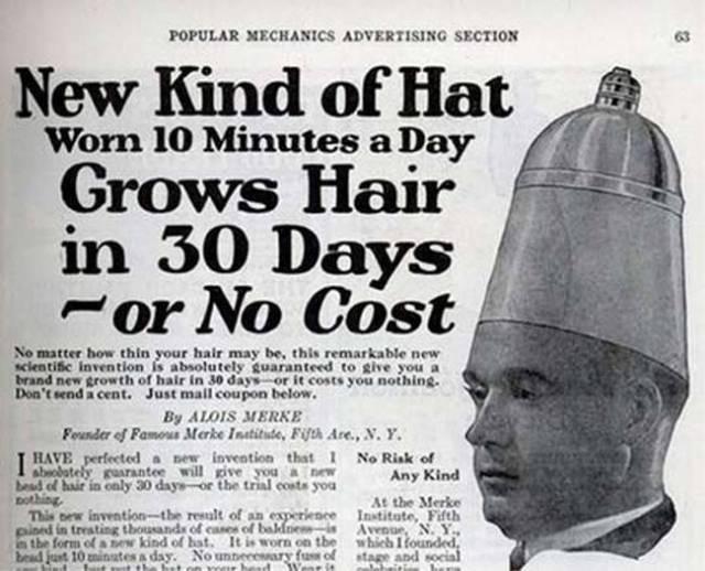 casco para el desarrollo del pelo vintage objetos bizarros