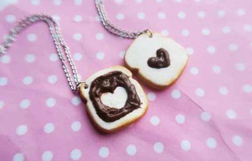 collares Mejores amigas pan con nutella