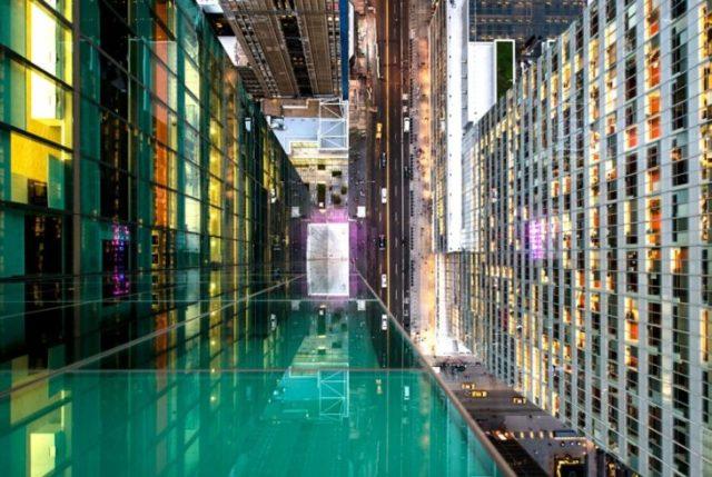 ciudad vista desde un edificio