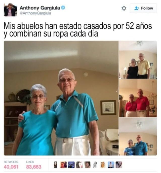 ancianos que combinan su ropa