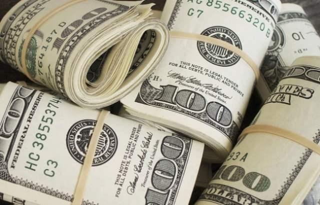 dinero billetes dólares