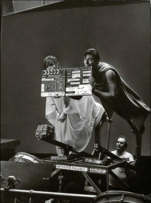 detrás de escenas de cual hacían que volara superman