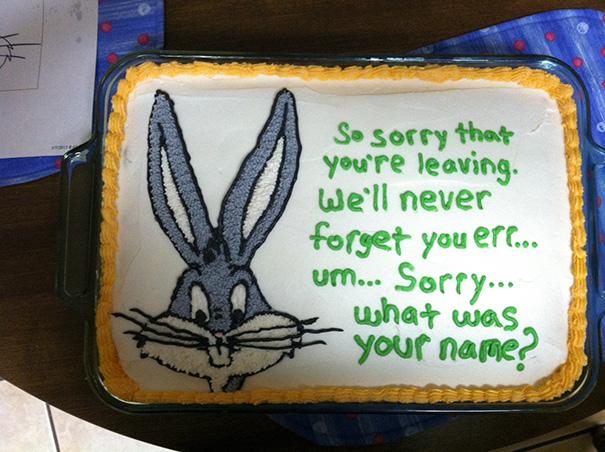 nunca olvidaremos tu nombre pastel despedida trabajo