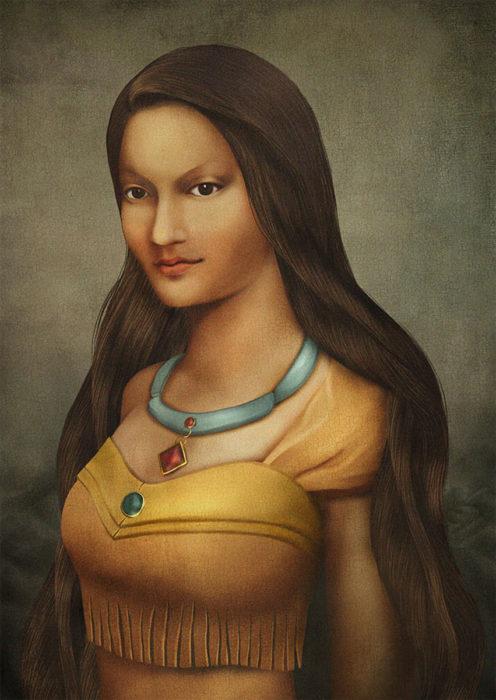 retrato renacentista princesa que habla con los arboles