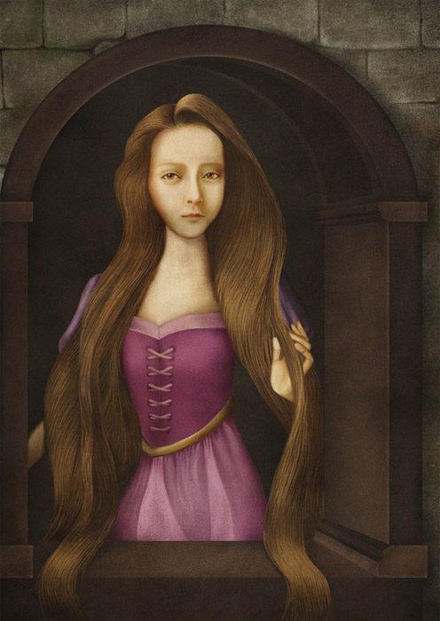 retrato renacentista princesa con pelo largometraje