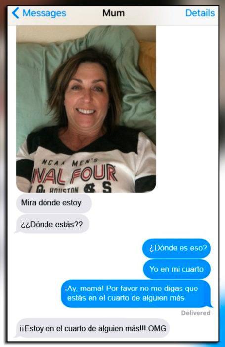 Errores - mamá en el dormitorio de alguien más que no es su hija