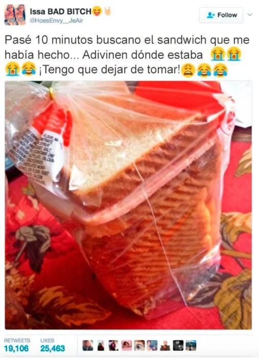 Errores - sandwich en la bolsa