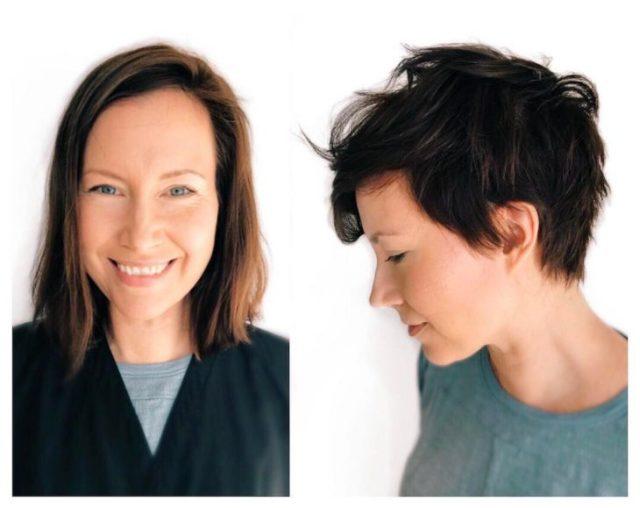 señora cambio de look chavala pelo cortometraje antes y después