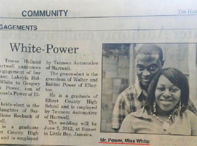 pareja afro en un periódico