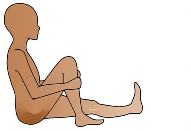 elevación de rodillas