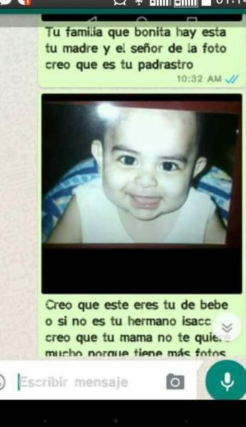Chantaje WhatsApp - éste eres tú de bebé