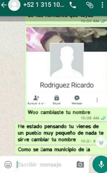 Chantaje WhatsApp - rodríguez ricardo