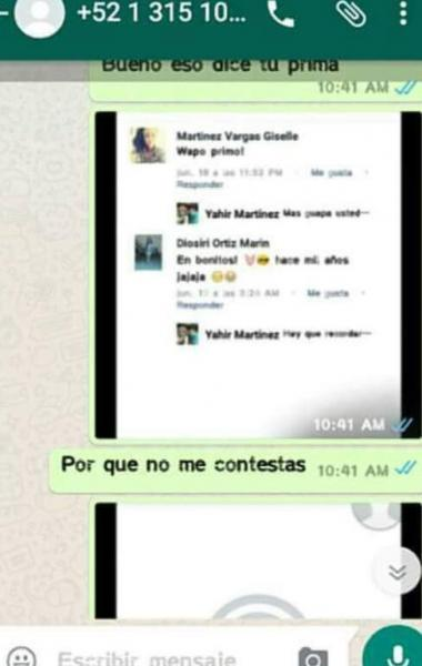 Chantaje WhatsApp - proque no me contestas