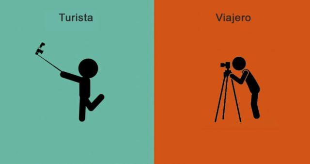 diferencias viajante y turistas fotos