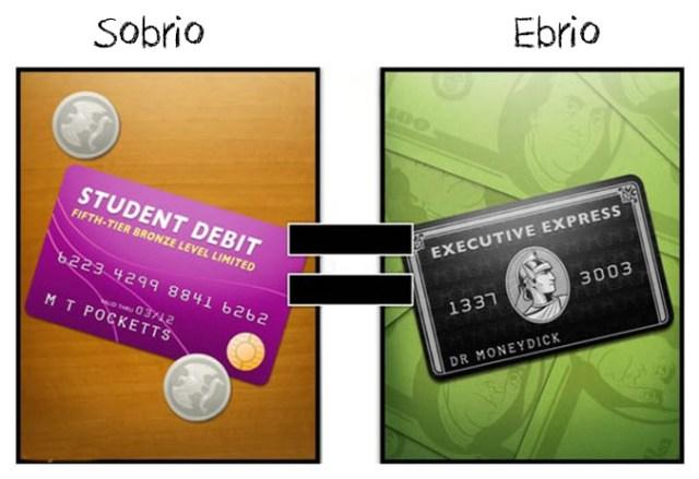 confundes la tarjeta de credito