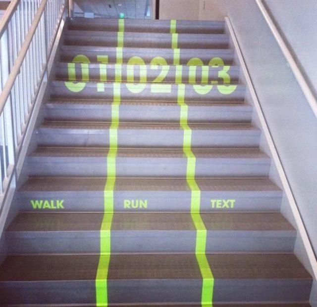 escaleras carriles
