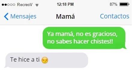 Mensajes graciosos mamá - mamá no es gracioso