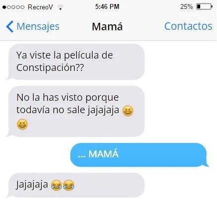 Mensajes graciosos mamá - constipación