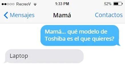 Mensajes graciosos mamá - notebook