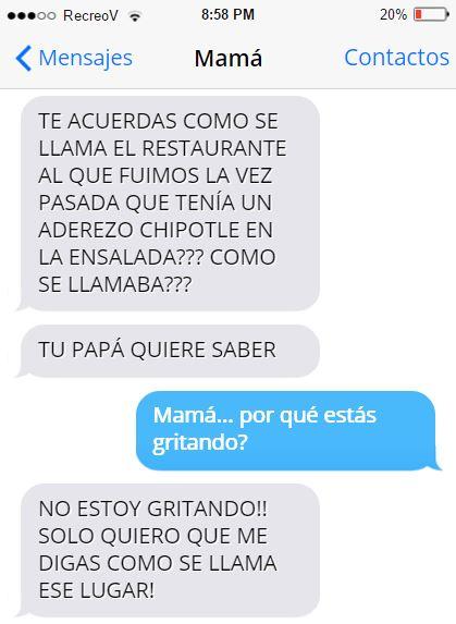 Mensajes graciosos mamá - por cuán estás gritndo?