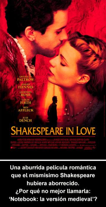 Crítica atroz Shakespeare in Love