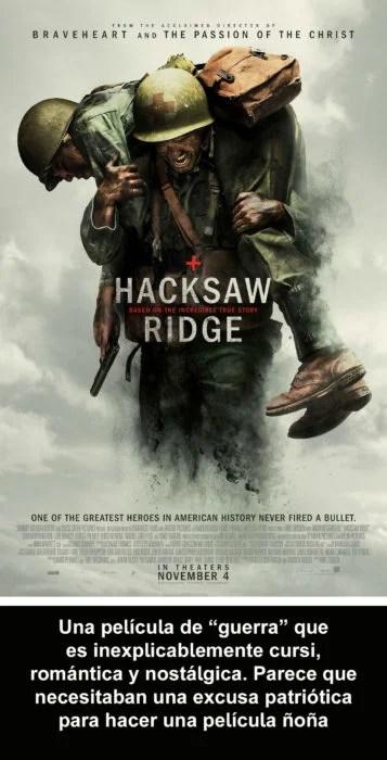Crítica atroz Hacksaw Ridge