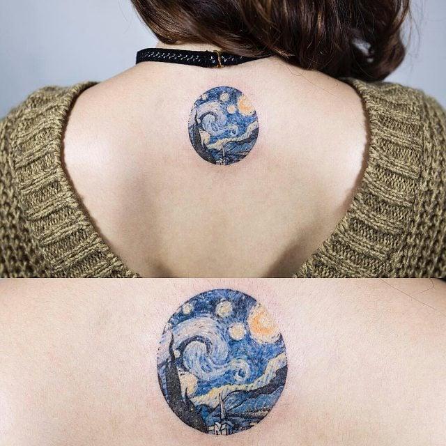 la noche estrellada tatuaje