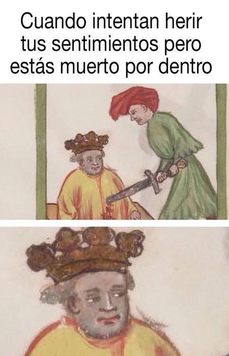 meme medieval sobre estar fallecido por dentro