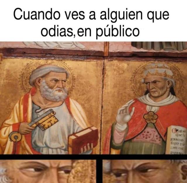 meme sobre apóstoles que se caen mal