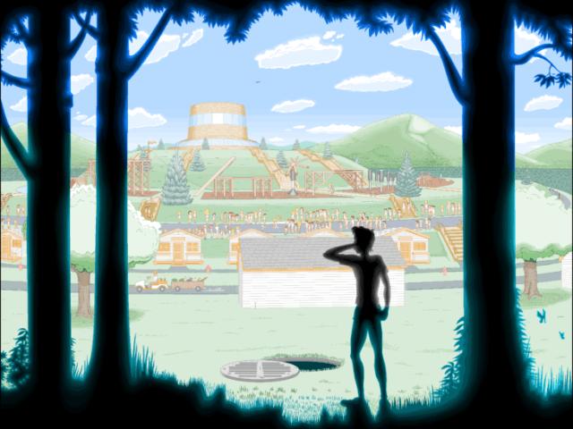 sombra mirando el paisaje
