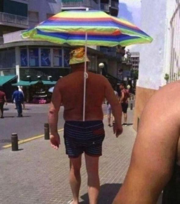 paraguas enorme