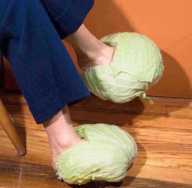 coles en vez de zapatos