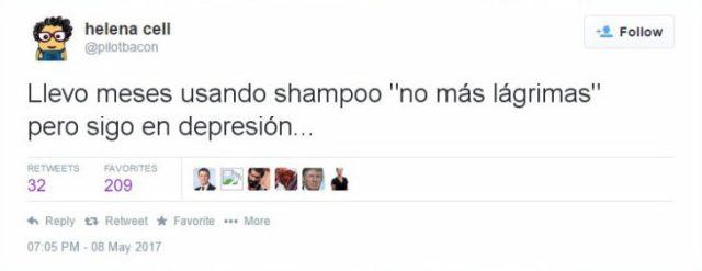 depresión shampoo