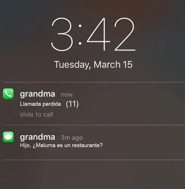 restaurante abuela mensaje