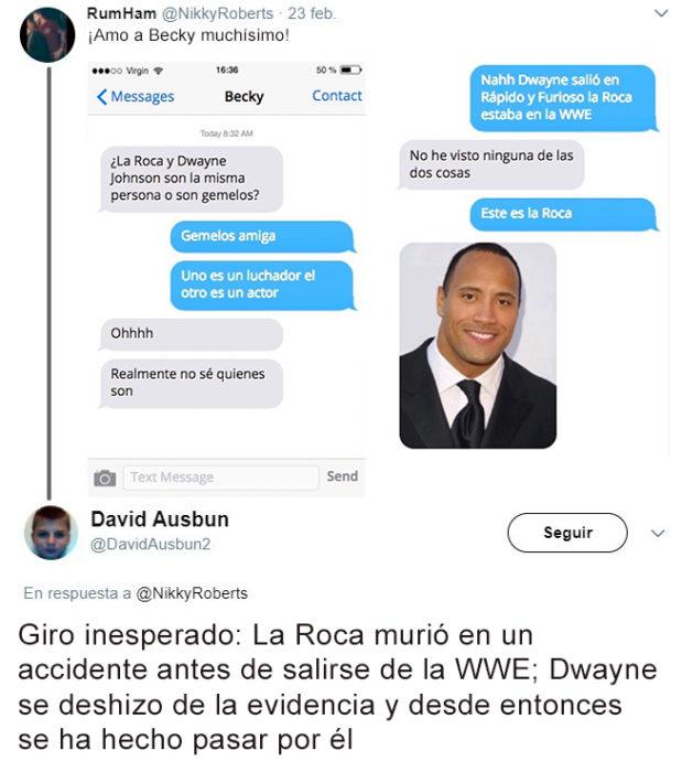 Giro inopinado contestación en Twitter