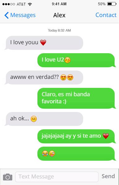 U2 gracieta mensajes novia