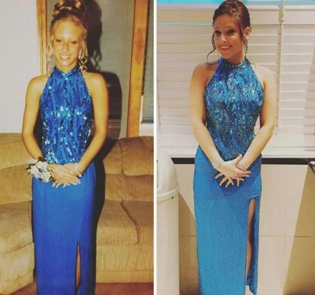 vestido azul El mismo que mamá utilizó en su graduación