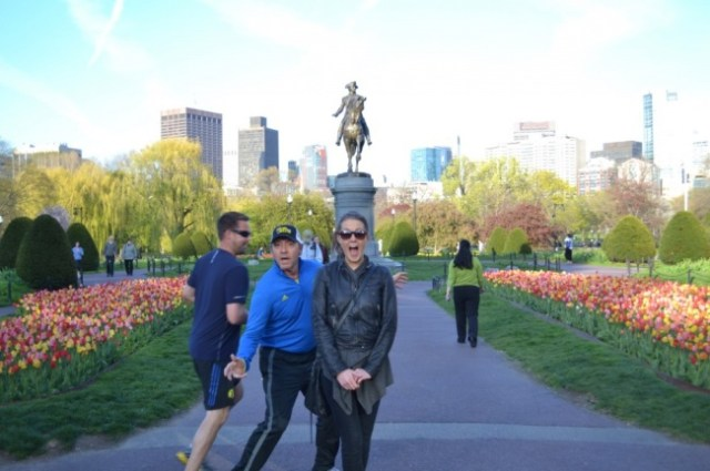 Famosos photobomb - spacey en fotografía en boston