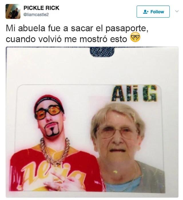 pasaporte abuela