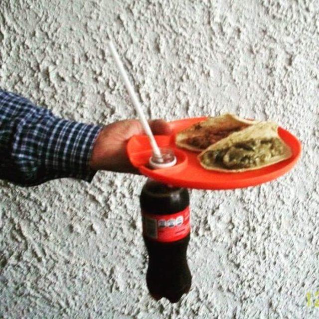 plato porta botella tacos