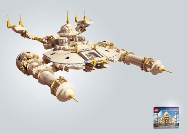 set lego del taj mahal hecho nave