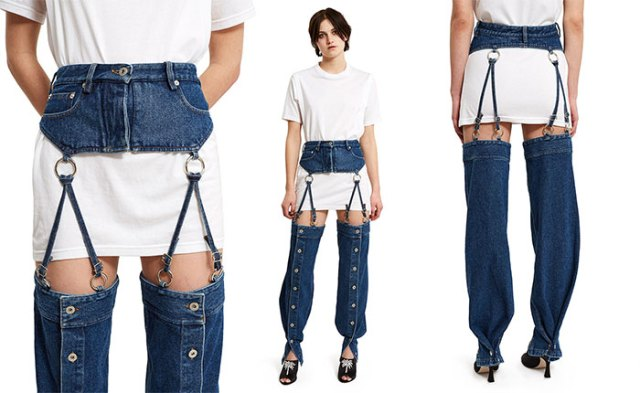 jeans con tirantes