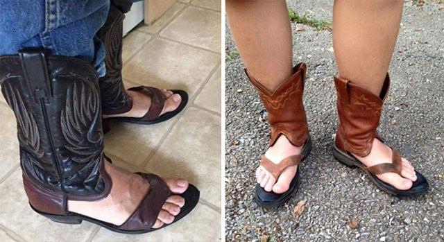 botas sandalias